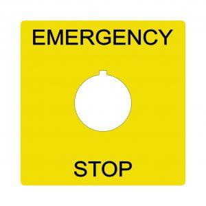 Emergency stop65mm
